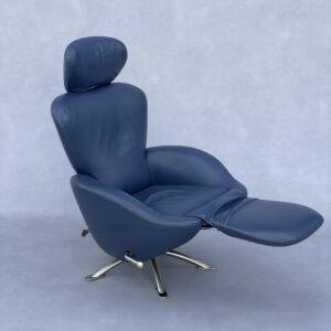 Cassina K10 Dodo Fauteuil Blauw Leer Fauteuils Design Meubels Tweedehands Nieuw