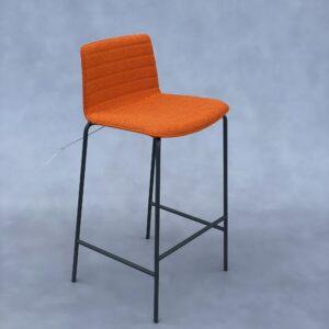 Andreu World Flex Kruk Oranje Stof Krukken Design Meubels Tweedehands Nieuw