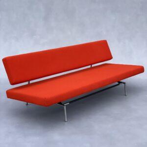 Spectrum BR 02 (Slaap bank Oranje Stof) Banken Design Meubels Tweedehands Nieuw