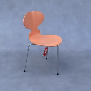 Fritz Hansen Mier 3 poot Stoel kleur Zalmroze Stoelen Design Meubels Tweedehands Nieuw