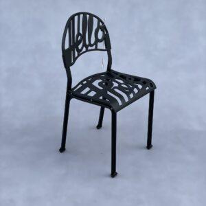 Aluminium Artifort Hello There Stoel Zwart Aluminium Stoelen Design Meubels Tweedehands Nieuw