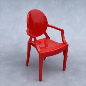 Kartell Lou Lou Ghost Kinderstoel Rood Kunststof Stoelen Design Meubels Tweedehands Nieuw