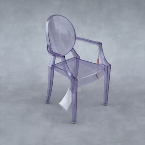 Kartell Lou Lou Ghost Kinderstoel Transparant Paars Kunststof Stoelen Design Meubels Tweedehands Nieuw