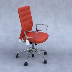 Vitra ID Trim Bureaustoel met armleggers Oranje Stof Bureaustoelen Design Meubels Tweedehands Nieuw