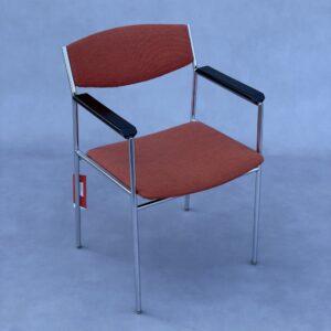 Gijs van der sluis Spectrum Stoel Rood/Oranje Stof Stoelen Design Meubels Tweedehands Nieuw