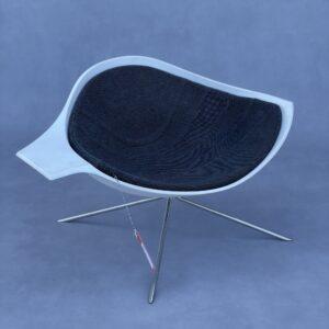 Artifort Low Lotus René Holten Fauteuil Wit/Antraciet Fauteuils Design Meubels Tweedehands Nieuw